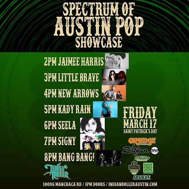 Friday! DW and AC will play some new songs and some EP stuff as a duo at @indianrolleraustin Come hang! #sxsw #stpatricksday #livemusic #atx #austinmusic