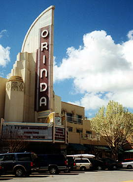 The Art Deco Orinda movie theater was built in 1941 and thrives to this day with independent and mainstream films.