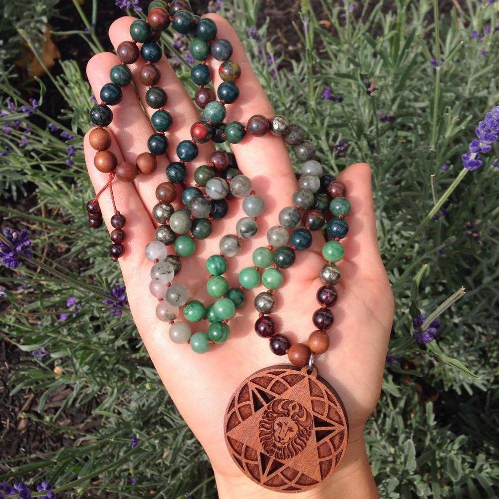 Custom Hand Knotted Mala Beads
