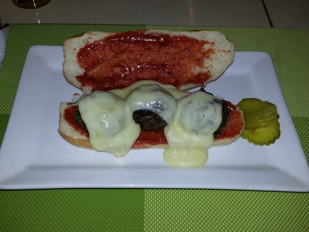 meatball mozzarella hoagie