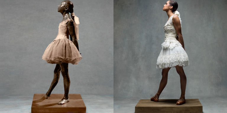 Photography by Ken Browar & Deborah Ory;  Alexander McQueen  dress and corset,  Mood Fabrics  ribbon.