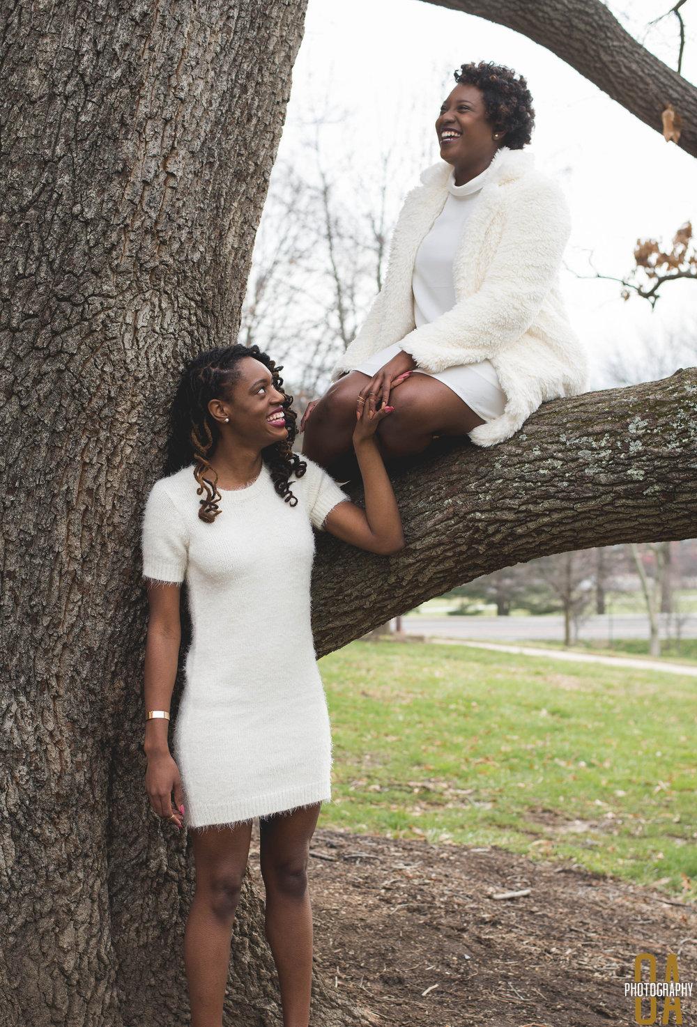 Photographer:  Olasubomi Adesoye  , Creative Director: Cheyenne Fogg  , Models: Nzinga Acey (right)&Bria Sladden (left)