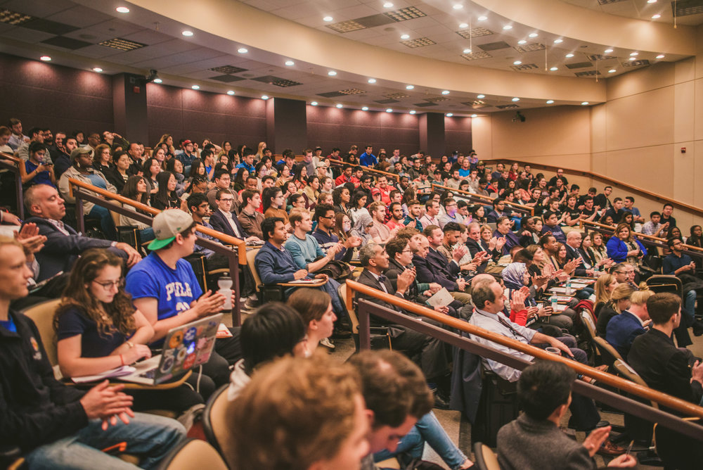 Pitch Dingman Semifinals audience members.  Photo credit:  Dingman Center of Entrepreneurship