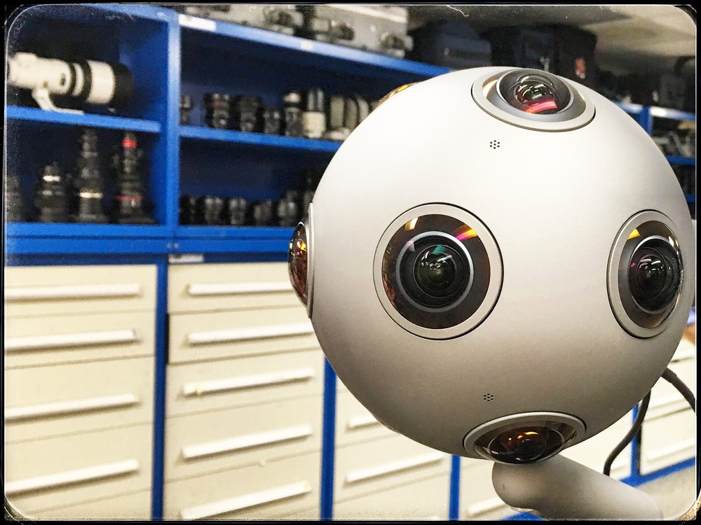 The Ozo crashed into our equipment room from deep space. Shoots 4K 360, mechanized with remote ops, the real deal for immersive and VR storytelling.