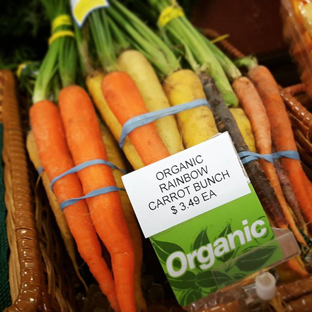 So refreshing to see how times have changed over the last few years as even local mom & pop stores are offering many #organic options. #organicfood  #food #health #healthy #healthyliving #healthychoices #healthyfood #healthylifestyle #healthyeating #photography #cinematography #videoproduction #video #carrots #diet #nutrition