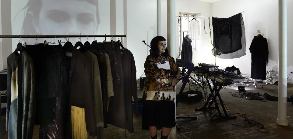 Otago Daily Times 2016 JPalm Presents' was a showcase of contemporary Dunedin-based practitioners collaborating through interdisciplinary modes of production including fashion, art, music and film. This showcase was a snapshot of an active subculture within the city that present multiple intersections through a collision of disciplines. The showcase includes works by Julia Palm, Kelly O'Shea, Ella Harrington-Knapton, Ted Whitaker, Esta de Jong, Lance Strickland and Élan Vital.
