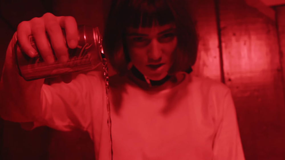 October - Cherry Cola Music Video Wearing JPalm PVC choker