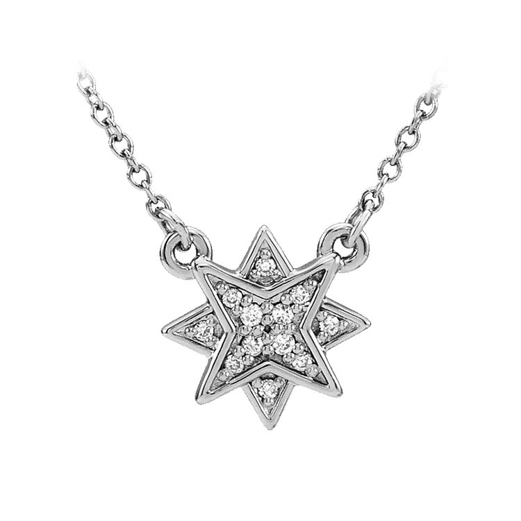 Hugo & Haan 14k White Gold Star Pendant Necklace - For the star in your life.