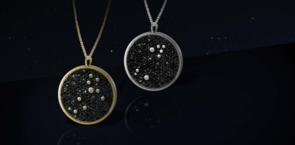 Constellation Diamond Pendants  - All Hugo & Haan jewelry is made-to-order and customizable. Designed by Emi, handmade in London.Contact us with any questions here.