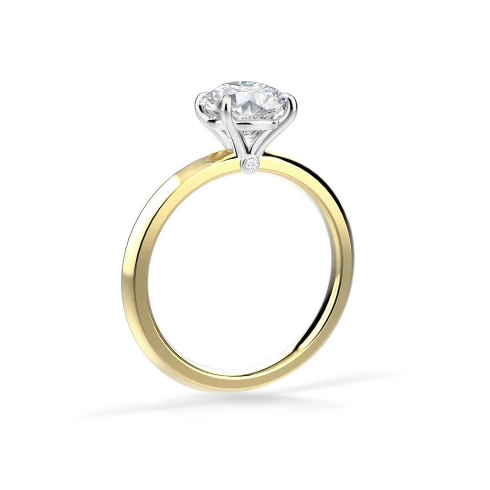 Personalise with a birthstone - Under the main diamond setting we have created a hidden detail where you can choose to set the birthstone of your partner for an added detail that creates your personal story.
