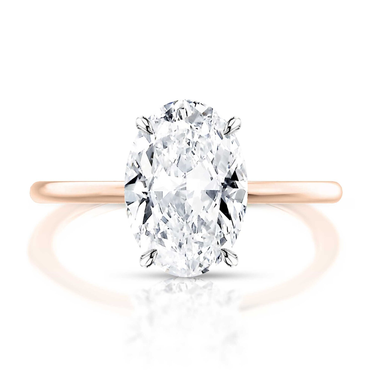 Thin Band Oval Diamond Engagement Ring Hugo Haan