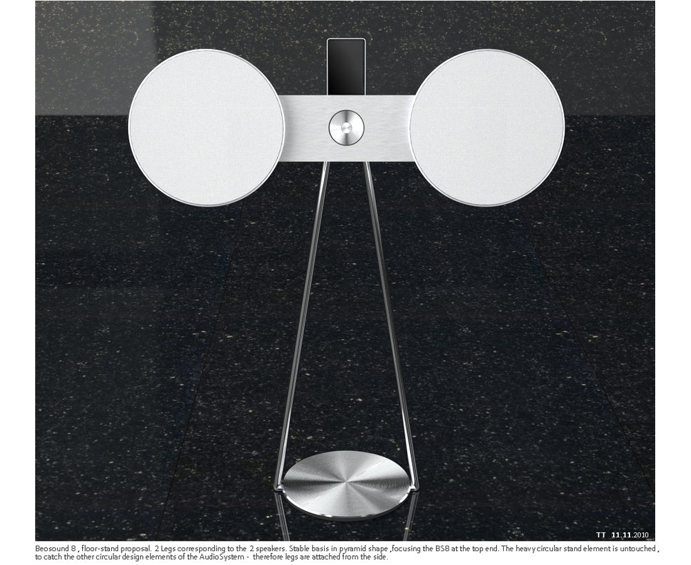 bang and olufsen beosound 8. floorstand design for the beosound 8 - bang \u0026 olufsen by tolga t. and w