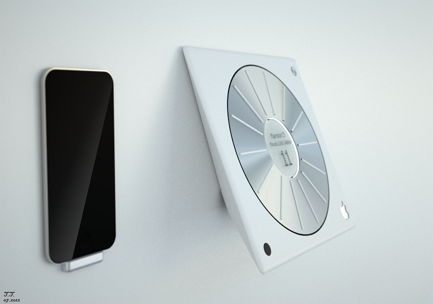 Apple Concept Design Access Point to stored music - Wallmount  © 2012 Tolga Tuncer