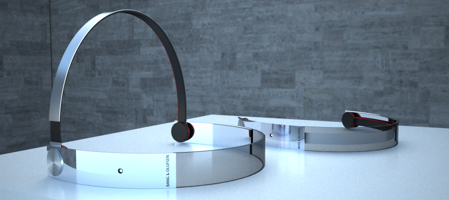 3D TV glasses with wireless headphones ,wireless charging @ Tolga Tuncer 2010 - Design by Tolga T.