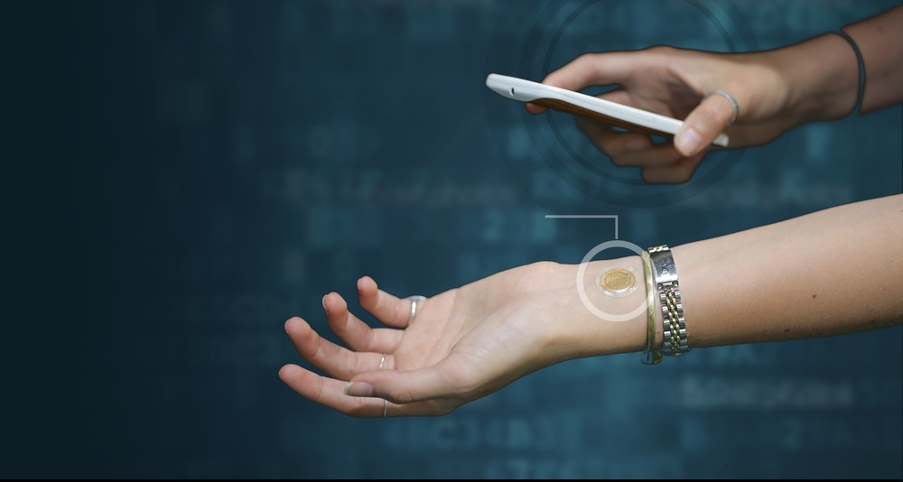 The eSkin tattoo is a wearable NFC device