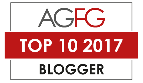 winner - AGFG top 10 blogger awards 2017