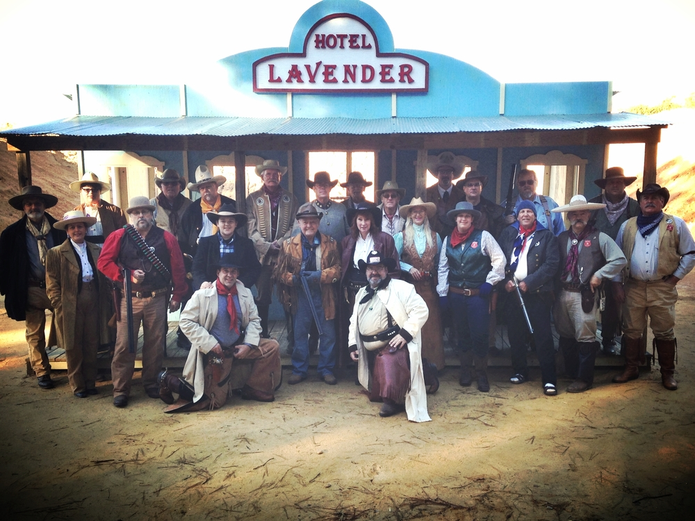The whole Posse in front of the Hotel Lavender