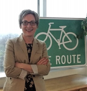 Michelle credits the changing landscape for bicycling to strong ties between advocates and city officials.