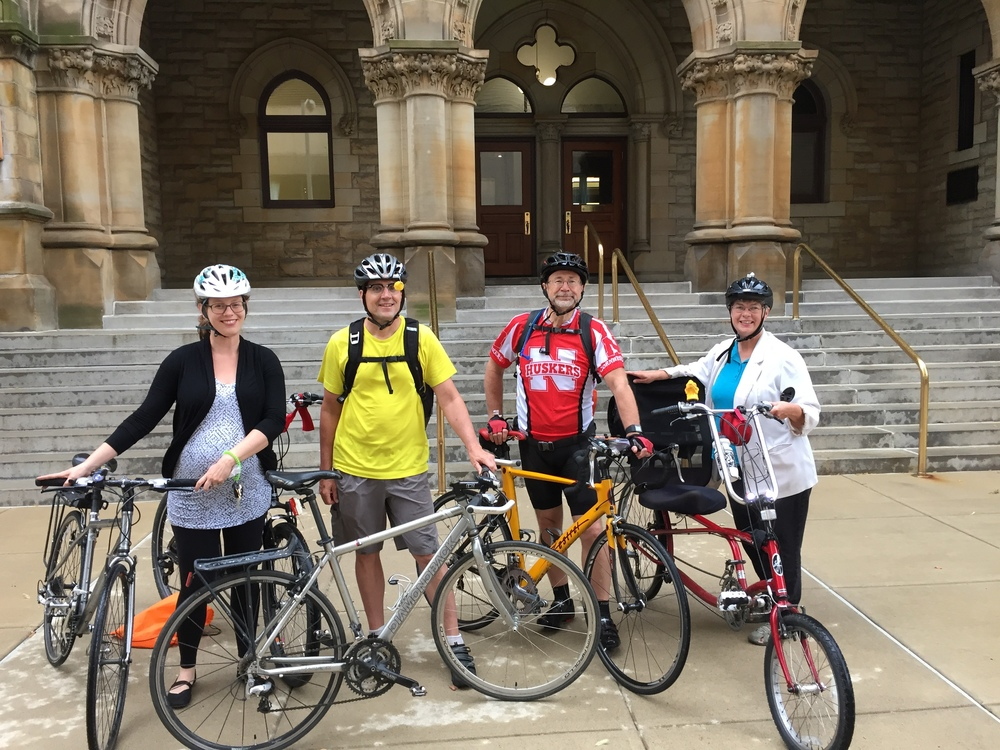 Bricker and Eckler employees rode in from the new Park & Pedal location at Dodge Park.