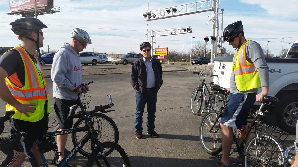Yay Bikes! rides with the Columbus Department of Public Service to provide feedback on proposed bicycle infrastructure in the Sullivant Ave / Georgesville Road area.