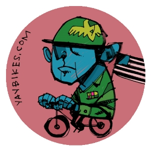 July's button, courtesy artist Thom Glick