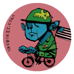 July's button, courtesy local artist Thom Glick