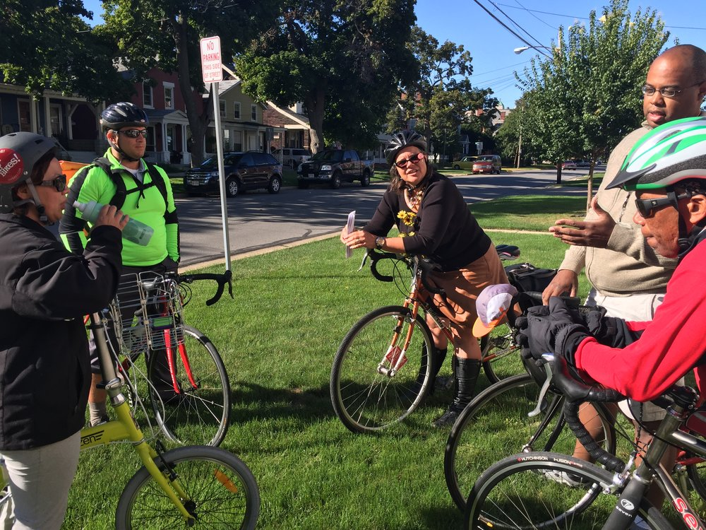 Officials in Sandusky, Ohio on a Professional Development Ride. Photo credit: MJ Reed