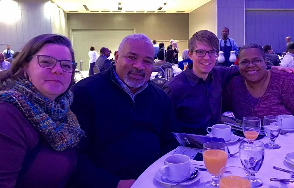 Executive Director Catherine Girves joins staff and lay leaders at Summit on 16th United Methodst Church in celebration of Martin Luther King Jr's birthday at the Greater Columbus Convention Center.