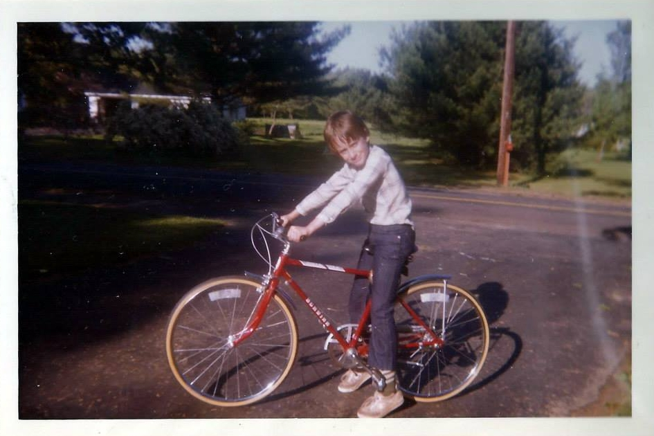 Nick, on one of his early big boy bikes.