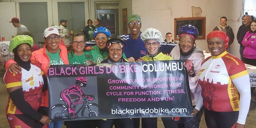 Black Girls Do Bike Columbus riding 2017's Bike the Cbus. Photo credit: Ben Ko