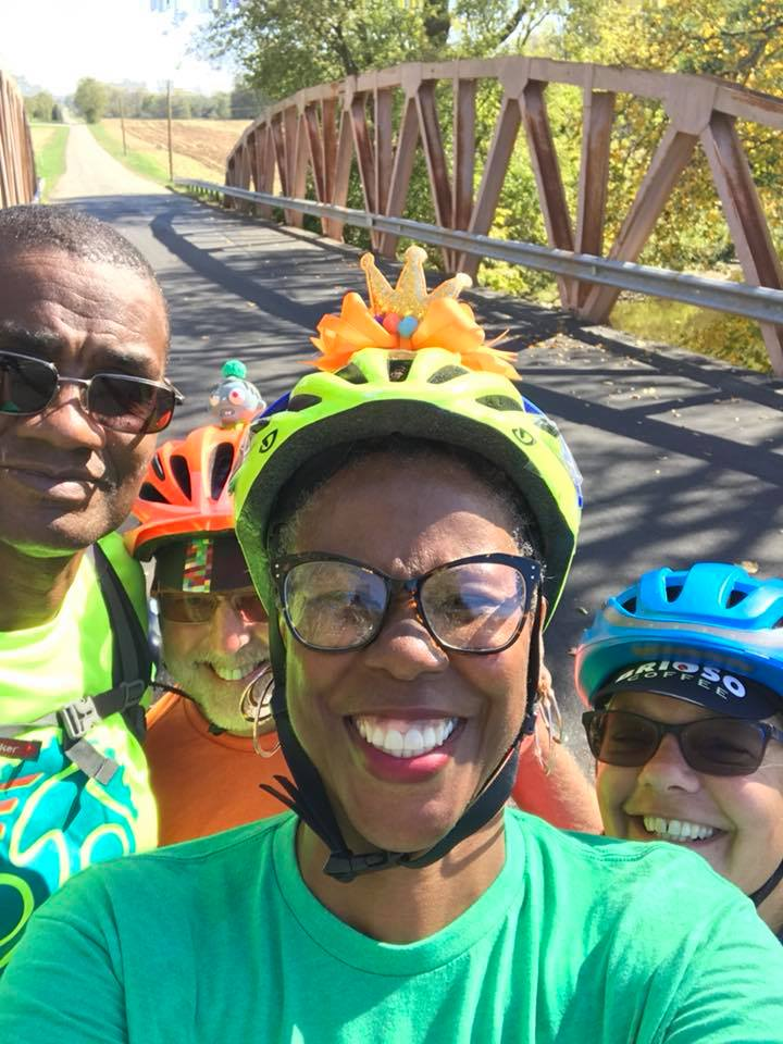 Me (far right), making time for long bike rides with loved ones. Photo credit: Shyra Allen