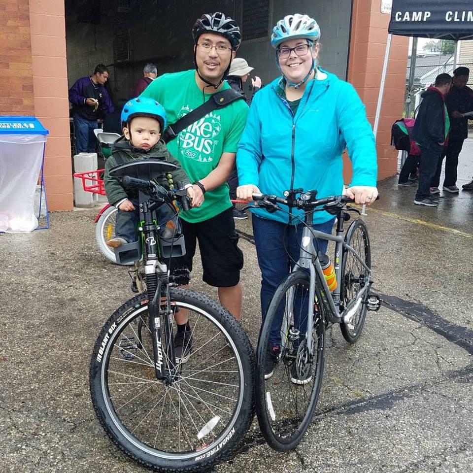 Beating the rain at Bike the Cbus 2017.