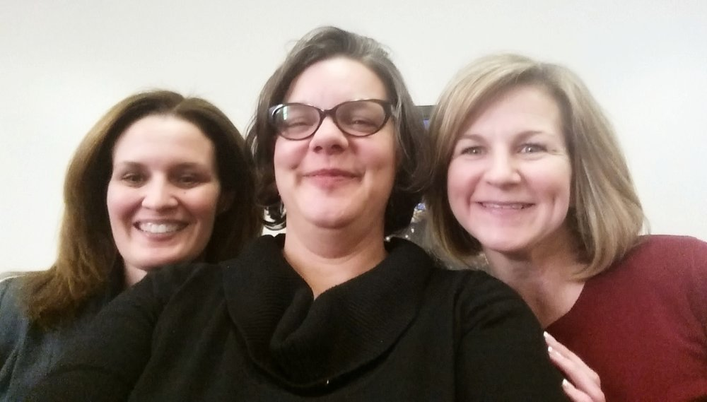 Our Executive Director Catherine Girves (center), with Columbus' Director of Public Utilities Tracie Davies (left) and Director of Public Service Jennifer Gallagher (right).