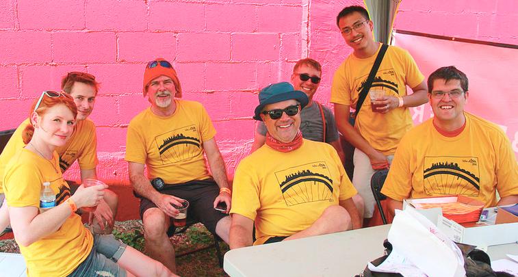 John, with fellow Bike the Cbus volunteers.