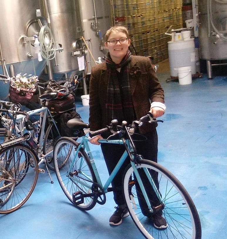 This month's volunteer ride leader:Kaitlin Clark