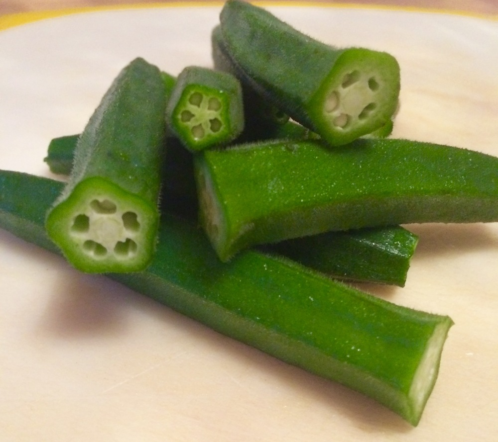 Okra for our spicy Nigerian Okra soup