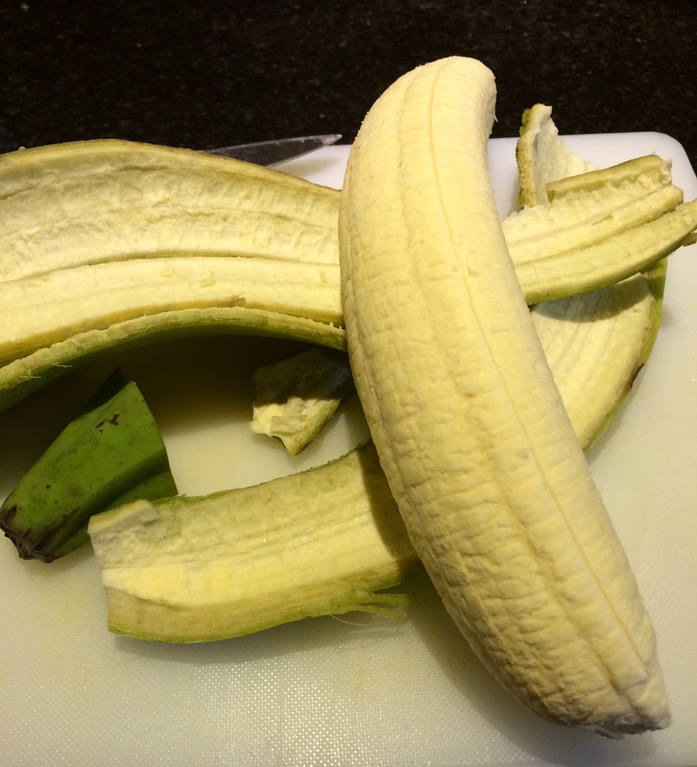 Green Plantain looks like a Banana