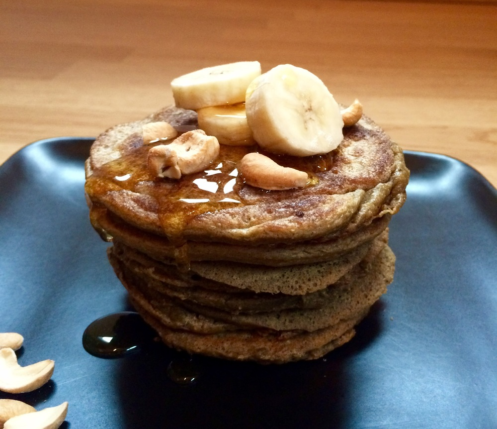 Green plantain pancakes that look delicious