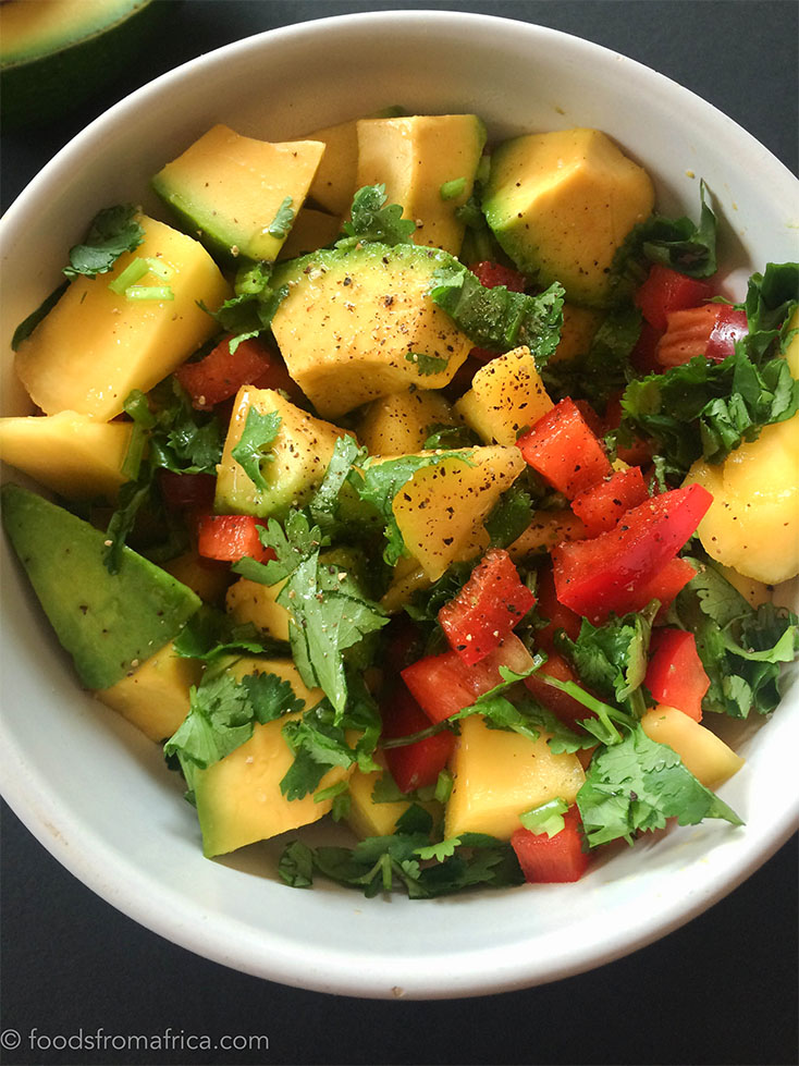 AFRICAN SALSA WITH MANGO AND AVOCADO