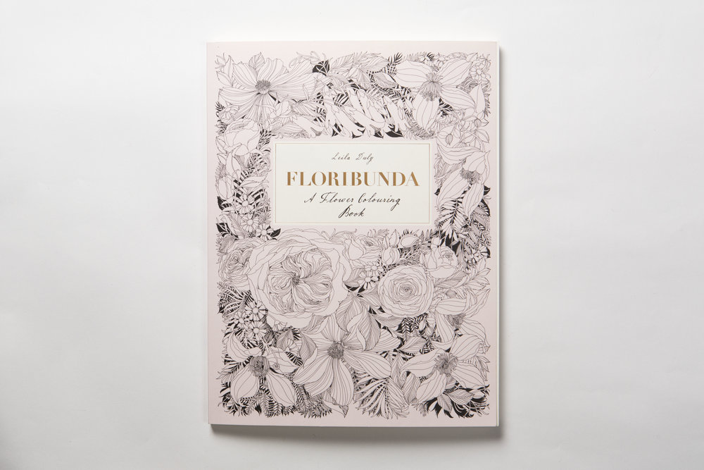 Bestselling Floribunda Colouring Book Published by Laurence King