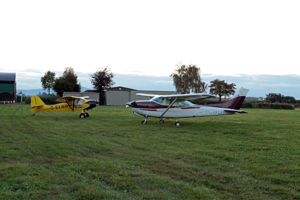 Private planes at Defford, Worcs.