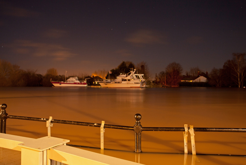 River Severn in Flood, Upton-on-Severn, Worcs.
