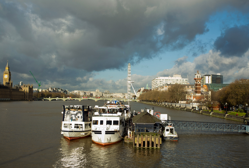 Boats on the River Thames, London