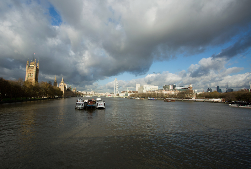View from Lambeth bridge, London
