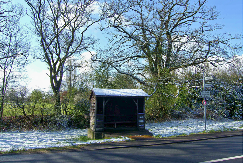 Bus stop, Guarlford, Worcs.