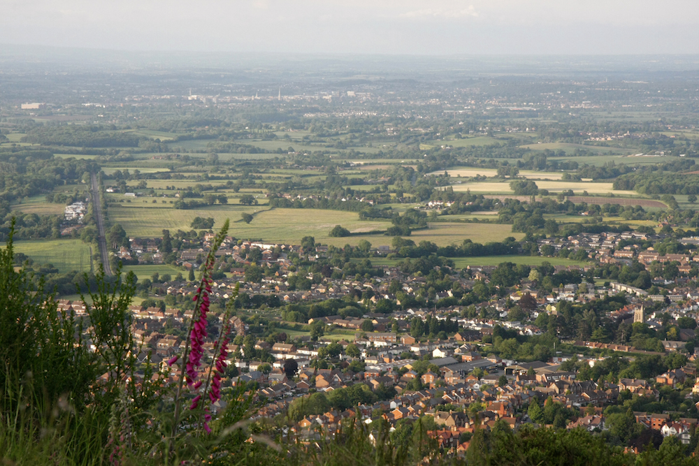 View of Malvern from on top of the Hlls