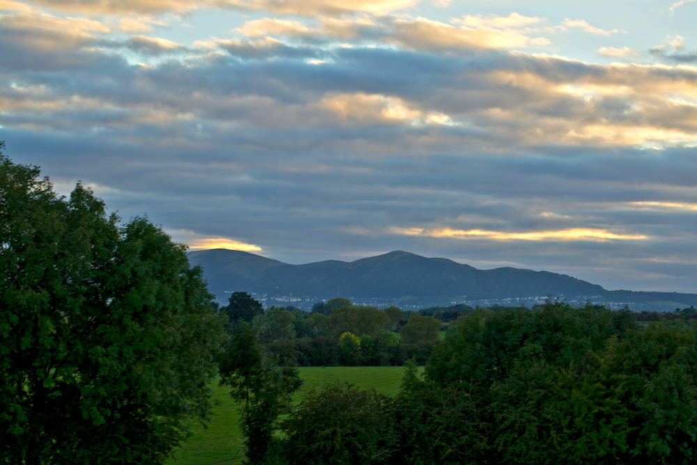 Easterly view of the Malvern Hills