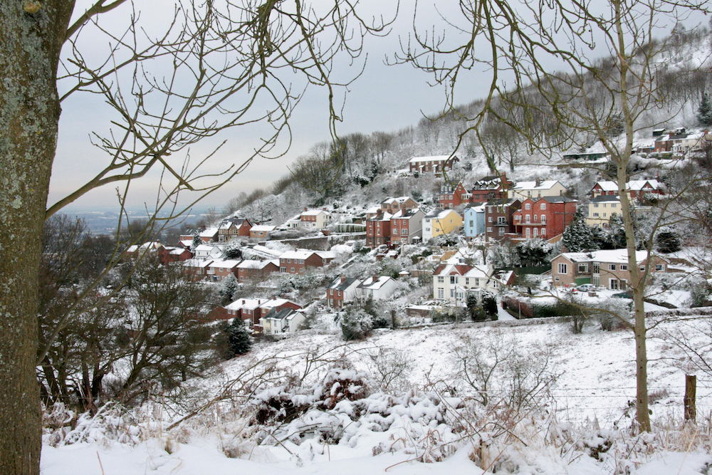 Winter view of West Malvern