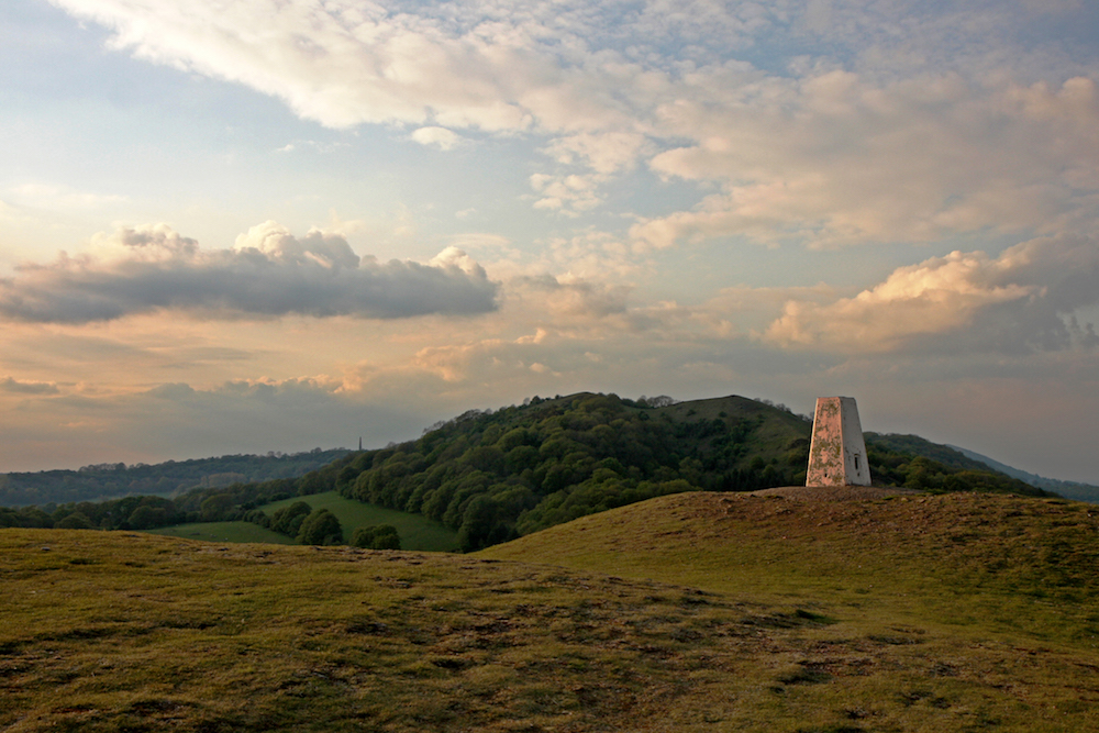 Raggedstone Hill viewed from Chase End, Malvern Hills