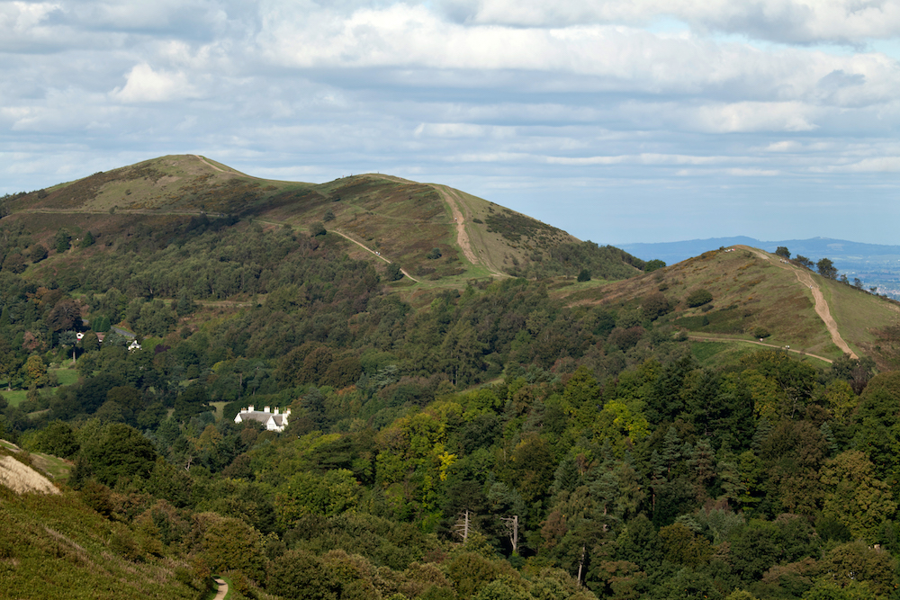 Malvern Hills range from British Camp